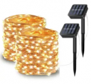 72-Ft. LED Solar String Lights 2-Pack Discount 40% coupon code off Amazon