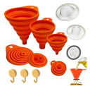 Funnels for Kitchen use With Strainer and Hook Up for Filling Discount 40% coupon code off Amazon