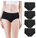 Women's Soft Cotton Stretch Mid Rise Briefs 4-Pack Discount 40% coupon code off Amazon