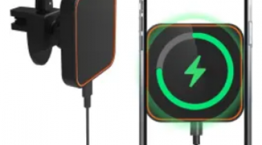 SanRocFun 15W Magnetic Wireless Car Charger Discount 60% coupon code off Amazon