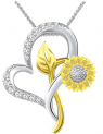 Sunflower Necklace for Women Discount 80% coupon code off Amazon