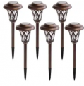 Solar Pathway Light 6-Pack Discount 50% coupon code off Amazon