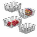 Wire Storage Basket 4-Pack Discount 35% coupon code off Amazon