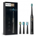 Sonic Electric Toothbrush w/ 4 Brush Heads Discount 50% coupon code off Amazon
