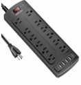 12-Outlet 4-USB Surge Protector Power Strip Discount 50% coupon code off Amazon