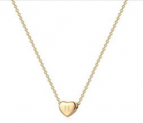 Tiny Gold Initial Heart Necklace Discount 50% coupon code off Amazon