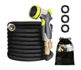 50ft Garden Hose HOMEERR Expandable Leak-proof Water Hose with Double Latex Core Discount 50% coupon code off Amazon