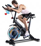 Indoor Cycling Bike with Tablet Holder and LCD Monitor Discount 70% coupon code off Amazon