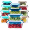 24-Piece Food Storage Container Set Discount 50% coupon code off Amazon