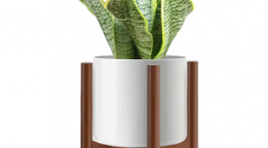 Mid Century Modern Plant Stand for Indoor Plants Discount 50% coupon code off Amazon