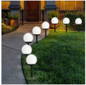 LED Solar Globe Pathway Light 8-Pack Discount 50% coupon code off Amazon