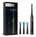 Sonic Electric Toothbrush w/ 4 Brush Heads Discount 40% coupon code off Amazon