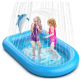 Dolphin Inflatable Sprinkler Splash Pad Discount 50% coupon code off Amazon