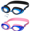 2 Pack Kids Swim Goggles for Age 4-16 Discount 50% coupon code off Amazon