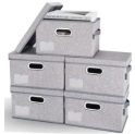 Foldable Storage Bin with Lid 5-Pack Discount 35% coupon code off Amazon
