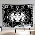 Tapestry Wall Hanging Mystic Black and White Tapestries with Sun & Moon Discount 60% coupon code off Amazon
