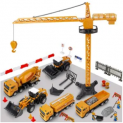 64-Piece Construction Truck Toy Set Discount 50% coupon code off Amazon