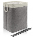 Large Linen Laundry Basket with Strong Handle Discount 50% coupon code off Amazon