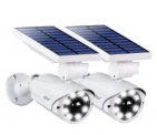 Solar LED Flood Light 2-Pack Discount 40% coupon code off Amazon