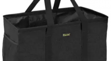 Utility Tote Bag with Metal Wire Frame and Reinforced Bottom Discount 35% coupon code off Amazon