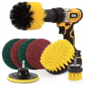 8-Piece Drill Brush Attachment Set Discount 50% coupon code off Amazon