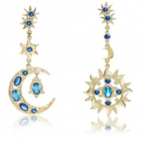 Sun and Moon Drop Earrings Discount 40% coupon code off Amazon