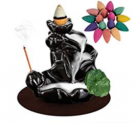 Waterfall Incense Holder Backflow Cone Ceramic Burner  Discount 50% coupon code off Amazon