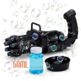 Automatic Bubble Gatling Toy w/ Solution Discount 50% coupon code off Amazon