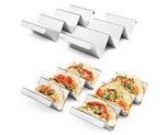 Taco Holders 4 Packs – Stainless Steel Taco Stand Rack Tray Style by Discount 40% coupon code off Amazon