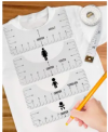 6-Piece T-Shirt Ruler Guide Alignment Tool Discount 50% coupon code off Amazon