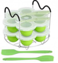 Silicone Egg Bites Molds and Steamer Rack Trivet with Heat Resistant Handles Fit Instant Pot Accessories Discount 40% coupon code off Amazon