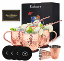 Moscow Mule Copper Mugs Set of 4 Discount 35% coupon code off Amazon