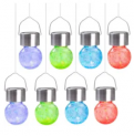 Hanging Solar Light 8-Pack Discount 50% coupon code off Amazon