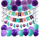 Mermaid Party Supplies Birthday Decorations Discount 40% coupon code off Amazon