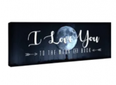 I Love You Canvas Discount 50% coupon code off Amazon