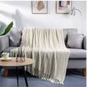 Throw Blanket with Tassel Solid Discount 50% off Amazon