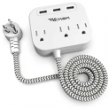 3-Outlet 3-USB Power Strip Discount 45% coupon code off Amazon