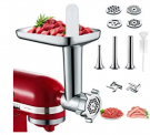 Metal Meat Grinder Attachments for KitchenAid Stand Mixers Discount 60% coupon code off Amazon