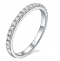 0.3-TCW Moissanite Wedding Band in Sterling Silver Discount 50% coupon code off Amazon