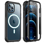 for iPhone 12 Pro Max Case with Built-in Screen Protector Discount 75% coupon code off Amazon