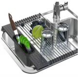 Roll-Up Over The Sink Dish Drying Rack Discount 55% coupon code off Amazon