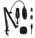 Unidirectional USB Condenser Microphone Kit Discount 50% coupon code off Amazon