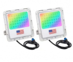 30W Color Flood Light 2-Pack Discount 50% coupon code off Amazon