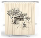 Farmhouse Shower Curtain Discount 50% coupon code off Amazon