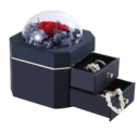 Preserved Rose Double Layer Jewelry Box Discount 52% coupon code off Amazon