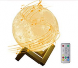 Moon Lamp Kids Night Light with Bluetooth Speaker Discount 50% coupon code off Amazon