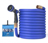 25-Foot Expandable Garden Hose with Spray Nozzle Discount 55% coupon code off Amazon