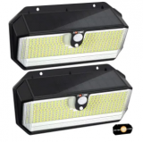 Outdoor Solar Lights 2-Pack Discount 50% coupon code off Amazon