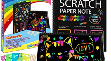 Scratch Paper Art-Crafts Notebook Discount 50% coupon code off Amazon