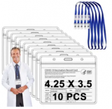 Vaccine Card Protector Sleeve w/ Lanyard 10-Pack Discount 50% coupon code off Amazon